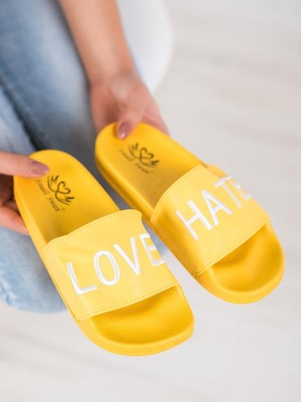 KLAPKI Z EKO SKÓRY LOVE&HATE