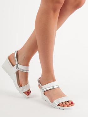 6f81538635487 białe sandały damskie na obcasie | Sklep CzasNaButy.pl